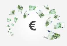 ευρο- μειωμένα χρήματα 100 τραπεζογραμματίων Στοκ εικόνα με δικαίωμα ελεύθερης χρήσης