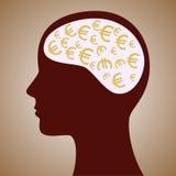 Ευρο- μυαλό ελεύθερη απεικόνιση δικαιώματος