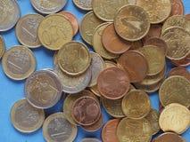 Ευρο- νομίσματα, Ευρωπαϊκή Ένωση πέρα από το μπλε Στοκ Εικόνα