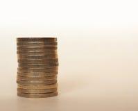 Ευρο- νομίσματα της ΕΥΡ, ΕΕ της Ευρωπαϊκής Ένωσης Στοκ Φωτογραφία