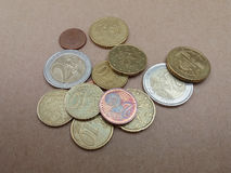 Ευρο- νομίσματα της ΕΥΡ Στοκ φωτογραφία με δικαίωμα ελεύθερης χρήσης