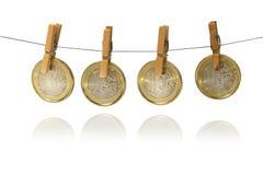 Ευρο- νομίσματα Στοκ Φωτογραφία