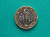 1 ευρο- νόμισμα από την Ιρλανδία Στοκ φωτογραφίες με δικαίωμα ελεύθερης χρήσης