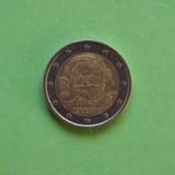 2 ευρο- νόμισμα από την Ιταλία Στοκ Φωτογραφίες