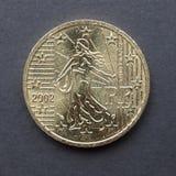 Ευρο- νόμισμα από τη Γαλλία Στοκ φωτογραφία με δικαίωμα ελεύθερης χρήσης