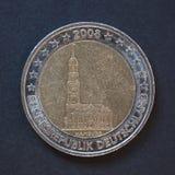 2 ευρο- νόμισμα από τη Γερμανία Στοκ εικόνα με δικαίωμα ελεύθερης χρήσης