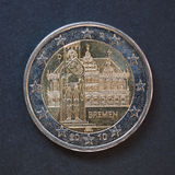 2 ευρο- νόμισμα από τη Γερμανία Στοκ Φωτογραφίες