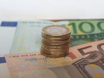 1 ευρο- νόμισμα, Ευρωπαϊκή Ένωση Στοκ Φωτογραφίες