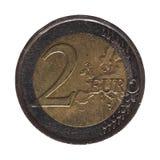 2 ευρο- νόμισμα, Ευρωπαϊκή Ένωση Στοκ Εικόνες