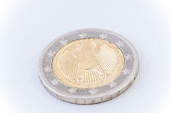 2 ευρο- νόμισμα με τη γερμανική πίσω πλευρά Στοκ εικόνα με δικαίωμα ελεύθερης χρήσης