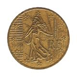 ευρο- νόμισμα σεντ 50, Γαλλία, Ευρώπη Στοκ Φωτογραφία