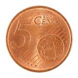 2 ευρο- νόμισμα σεντ Στοκ Εικόνες