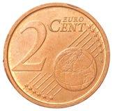 2 ευρο- νόμισμα σεντ Στοκ φωτογραφία με δικαίωμα ελεύθερης χρήσης