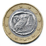 Ευρο- νόμισμα της Ελλάδας Στοκ Εικόνες