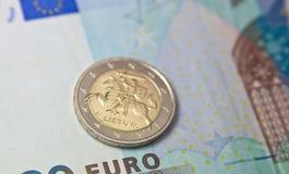 Ευρο- νόμισμα της Λιθουανίας Στοκ Φωτογραφία