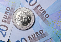 2 ευρο- νόμισμα της Λιθουανίας Στοκ εικόνα με δικαίωμα ελεύθερης χρήσης