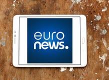 Ευρο- λογότυπο ειδήσεων Στοκ φωτογραφία με δικαίωμα ελεύθερης χρήσης