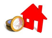 Ευρο- 'Οικία' απεικόνιση αποθεμάτων