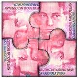 ευρο- οικονομικός γρίφος χρημάτων χεριών έννοιας Στοκ εικόνες με δικαίωμα ελεύθερης χρήσης
