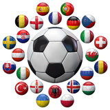 Ευρο- 2016 ομάδες ποδοσφαίρου της Γαλλίας Στοκ Φωτογραφία