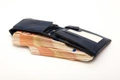 ευρο- πορτοφόλι τραπεζ&omicro Στοκ εικόνες με δικαίωμα ελεύθερης χρήσης