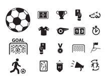 Ευρο- ποδόσφαιρο με το εικονίδιο και τη συλλογή συμβόλων Στοκ Φωτογραφίες