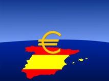ευρο- σημάδι ισπανικά Στοκ Φωτογραφία