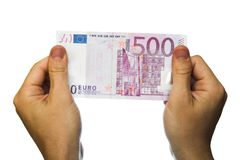 ευρο- σημείωση 500 τραπεζών Στοκ Εικόνες