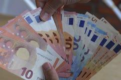 Ευρο- σημειώσεις νομίσματος Στοκ Εικόνες