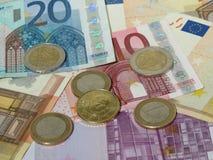 ευρο- σημειώσεις νομισμάτων Στοκ φωτογραφίες με δικαίωμα ελεύθερης χρήσης