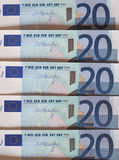 Ευρο- σημειώσεις της ΕΥΡ, ΕΕ της Ευρωπαϊκής Ένωσης Στοκ εικόνες με δικαίωμα ελεύθερης χρήσης