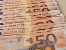 Ευρο- σημειώσεις της ΕΥΡ, ΕΕ της Ευρωπαϊκής Ένωσης Στοκ Εικόνα
