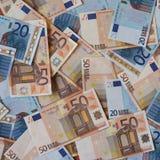Ευρο- σημειώσεις της ΕΥΡ, ΕΕ της Ευρωπαϊκής Ένωσης Στοκ Εικόνες