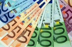 ευρο- σημειώσεις τραπεζών Στοκ φωτογραφία με δικαίωμα ελεύθερης χρήσης