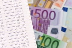 ευρο- σημειώσεις τραπε&ze στοκ εικόνα με δικαίωμα ελεύθερης χρήσης