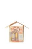 ευρο- σπίτι στοκ φωτογραφία με δικαίωμα ελεύθερης χρήσης
