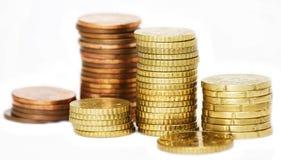ευρο- στοίβα νομισμάτων Στοκ φωτογραφίες με δικαίωμα ελεύθερης χρήσης