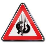 Ευρο- συντριβή σημαδιών Στοκ Εικόνα