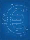 Ευρο- σχεδιάγραμμα συμβόλων Στοκ φωτογραφία με δικαίωμα ελεύθερης χρήσης