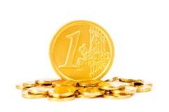 ευρο- σωρός νομισμάτων Στοκ φωτογραφίες με δικαίωμα ελεύθερης χρήσης