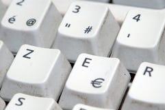 ευρο- σύμβολο πληκτρολ Στοκ φωτογραφία με δικαίωμα ελεύθερης χρήσης