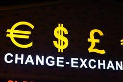Ευρο- σύμβολο σημαδιών δολαρίων Στοκ Φωτογραφία