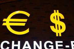 Ευρο- σύμβολο σημαδιών δολαρίων lirasi Τούρκου Στοκ φωτογραφία με δικαίωμα ελεύθερης χρήσης