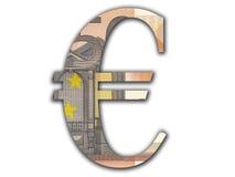 ευρο- σύμβολο Στοκ εικόνα με δικαίωμα ελεύθερης χρήσης