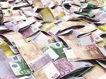 Ευρο- τραπεζογραμμάτια χρημάτων ως υπόβαθρο Στοκ Εικόνες