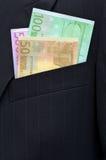 Ευρο- τραπεζογραμμάτια Στοκ Εικόνα