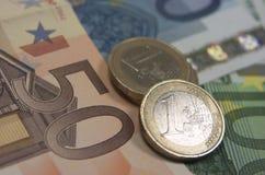 Ευρο- τραπεζογραμμάτια Στοκ φωτογραφίες με δικαίωμα ελεύθερης χρήσης