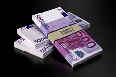 500 ευρο- τραπεζογραμμάτια Στοκ Φωτογραφία