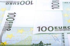 Ευρο- τραπεζογραμμάτια 100's Στοκ Εικόνες