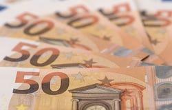 Ευρο- τραπεζογραμμάτιο και νόμισμα της Ευρώπης Στοκ Φωτογραφία